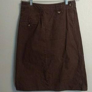 Kim Rogers women's brown skirt size 6 (F0112)